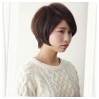 ショート 前髪あり ストリート ボブ ヘアスタイルや髪型の写真・画像