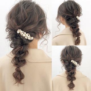 ヘアアレンジ ロング デート アンニュイほつれヘア ヘアスタイルや髪型の写真・画像 ヘアスタイルや髪型の写真・画像