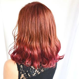 デート グラデーションカラー インナーカラー エレガント ヘアスタイルや髪型の写真・画像