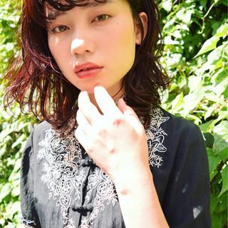 ガーリー ミディアム ワイドバング 大人かわいい ヘアスタイルや髪型の写真・画像