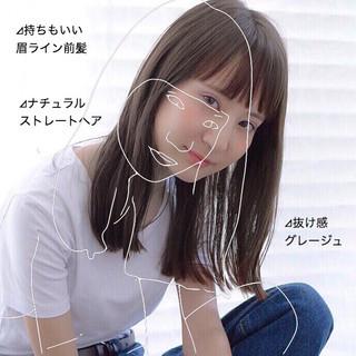 髪質改善 前髪 ナチュラル グレージュ ヘアスタイルや髪型の写真・画像