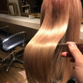 美髪 ナチュラル 髪質改善カラー 髪質改善 ヘアスタイルや髪型の写真・画像