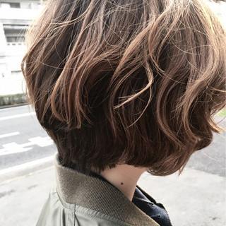 ナチュラル ショートボブ ニュアンス ボブ ヘアスタイルや髪型の写真・画像