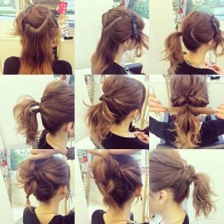 簡単ヘアアレンジ ルーズ ゆるふわ フェミニン ヘアスタイルや髪型の写真・画像 ヘアスタイルや髪型の写真・画像