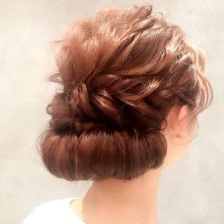 ロング 夏 ヘアアレンジ 波ウェーブ ヘアスタイルや髪型の写真・画像