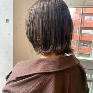 大人カジュアル ナチュラル ミニボブ ボブ ヘアスタイルや髪型の写真・画像
