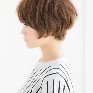 オフィス ショート ナチュラル 簡単ヘアアレンジ ヘアスタイルや髪型の写真・画像