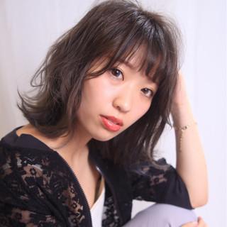透明感 ハイライト フェミニン 秋 ヘアスタイルや髪型の写真・画像