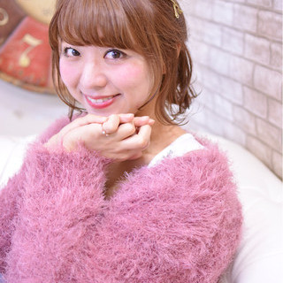 冬 お団子 ヘアアレンジ かわいい ヘアスタイルや髪型の写真・画像 ヘアスタイルや髪型の写真・画像