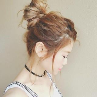 デート ヘアアレンジ アウトドア ゆるふわ ヘアスタイルや髪型の写真・画像