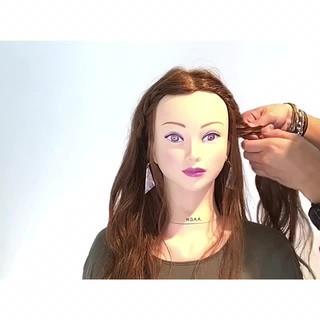 簡単ヘアアレンジ フェミニン ヘアアレンジ 色気 ヘアスタイルや髪型の写真・画像