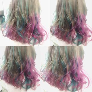 ガーリー グラデーションカラー フェミニン 外国人風 ヘアスタイルや髪型の写真・画像