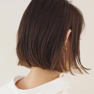 ボブ リラックス ナチュラル デート ヘアスタイルや髪型の写真・画像