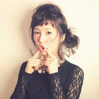 ゆるふわ モテ髪 フェミニン 簡単ヘアアレンジ ヘアスタイルや髪型の写真・画像