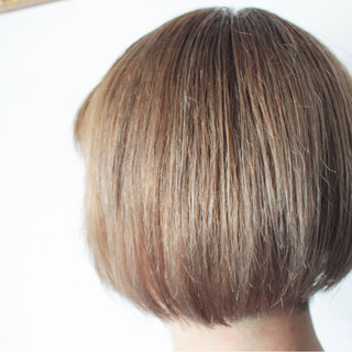 外国人風 アッシュ ボブ 透明感 ヘアスタイルや髪型の写真・画像