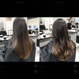 フェミニン ブラウンベージュ モテ髪 グラデーションカラー ヘアスタイルや髪型の写真・画像