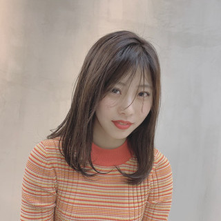 ミディアム 外国人風カラー ラベンダーグレージュ グレージュ ヘアスタイルや髪型の写真・画像 ヘアスタイルや髪型の写真・画像