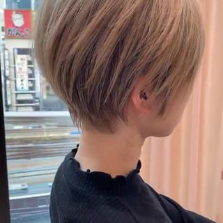 ショートボブ ハンサムショート ナチュラル ショート ヘアスタイルや髪型の写真・画像