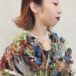 イルミナカラー グレージュ 3Dカラー ロング ヘアスタイルや髪型の写真・画像