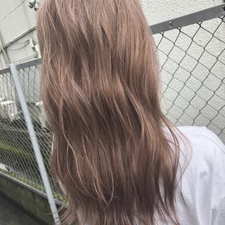 ピンクベージュ 外国人風カラー パーマ ベージュ ヘアスタイルや髪型の写真・画像