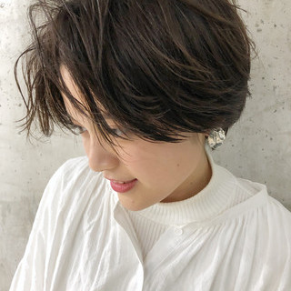 ナチュラルベージュ 小顔ショート デート ショート ヘアスタイルや髪型の写真・画像 ヘアスタイルや髪型の写真・画像