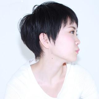 暗髪 イルミナカラー 前髪あり ガーリー ヘアスタイルや髪型の写真・画像