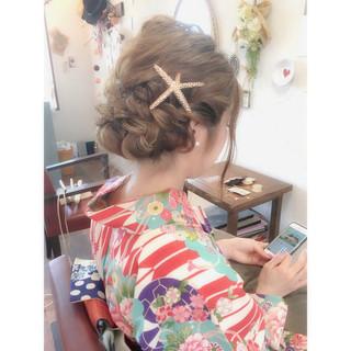 グラデーションカラー 外国人風 ヘアアレンジ アッシュ ヘアスタイルや髪型の写真・画像