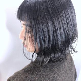 グラデーションカラー ボブ ショートボブ フェミニン ヘアスタイルや髪型の写真・画像