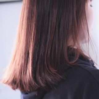 ピンク ナチュラル ピンクアッシュ ベリーピンク ヘアスタイルや髪型の写真・画像