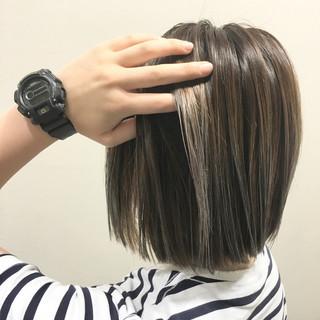 ブラウン ストリート グラデーションカラー ウェットヘア ヘアスタイルや髪型の写真・画像