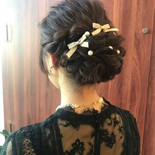 大人可愛い 結婚式 ナチュラル 二次会ヘア ヘアスタイルや髪型の写真・画像