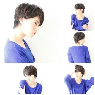 大人女子 ショート 黒髪 コンサバ ヘアスタイルや髪型の写真・画像