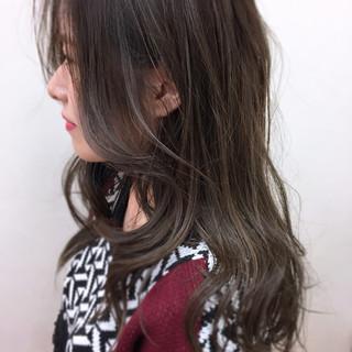 ロング デート 大人かわいい ハイライト ヘアスタイルや髪型の写真・画像