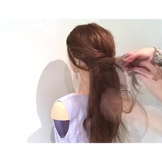夏 色気 ロング 簡単ヘアアレンジ ヘアスタイルや髪型の写真・画像