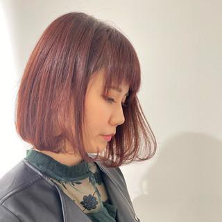透明感カラー イルミナカラー 大人かわいい ボブ ヘアスタイルや髪型の写真・画像