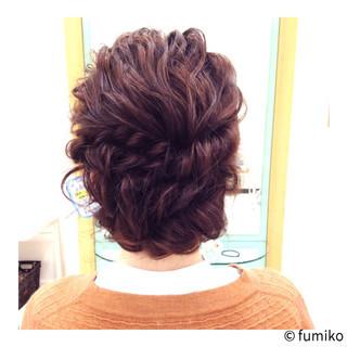 ミディアム ハーフアップ 大人かわいい ストリート ヘアスタイルや髪型の写真・画像