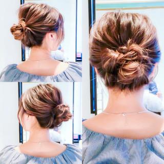 セルフアレンジ ヘアアレンジ セルフヘアアレンジ フェミニン ヘアスタイルや髪型の写真・画像