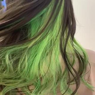 ストリート 大人カラー インナーカラー ブリーチ ヘアスタイルや髪型の写真・画像