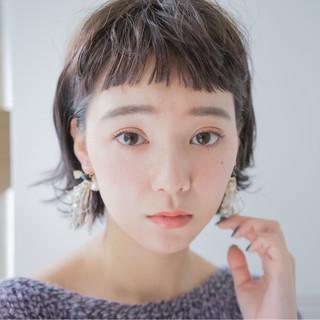 外国人風 モード 前髪あり パーマ ヘアスタイルや髪型の写真・画像