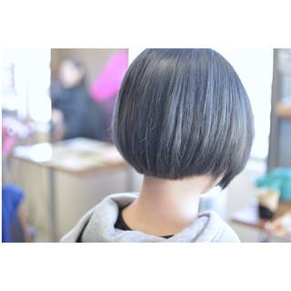 ブルー ブルーアッシュ ストリート ネイビー ヘアスタイルや髪型の写真・画像