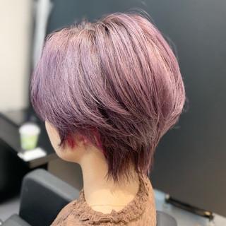 インナーカラー モード 似合わせカット ショートヘア ヘアスタイルや髪型の写真・画像