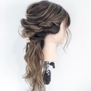 結婚式 ブライダル ロング ヘアアレンジ ヘアスタイルや髪型の写真・画像