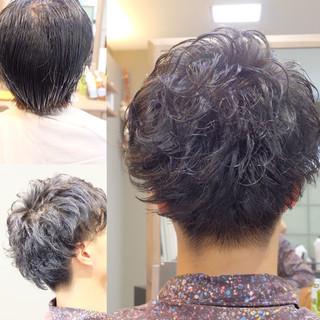 メンズ デート ショート ナチュラル ヘアスタイルや髪型の写真・画像