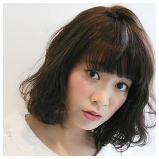 フェミニン 暗髪 ゆるふわ ボブ ヘアスタイルや髪型の写真・画像 ヘアスタイルや髪型の写真・画像