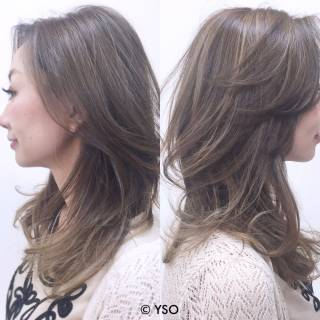 グラデーションカラー ハイライト ロング ナチュラル ヘアスタイルや髪型の写真・画像