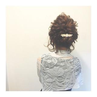 ボブ ショート まとめ髪 編み込み ヘアスタイルや髪型の写真・画像
