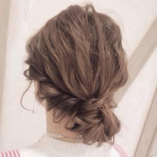 コンサバ 簡単ヘアアレンジ 愛され アップスタイル ヘアスタイルや髪型の写真・画像
