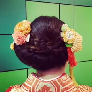 和装 ヘアアレンジ 大人かわいい 成人式 ヘアスタイルや髪型の写真・画像