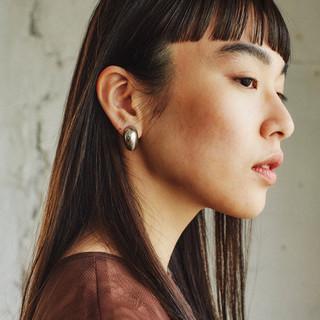 ロング モード 黒髪 ヘアスタイルや髪型の写真・画像