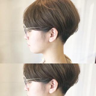 デート ショートマッシュ ナチュラル ショート ヘアスタイルや髪型の写真・画像